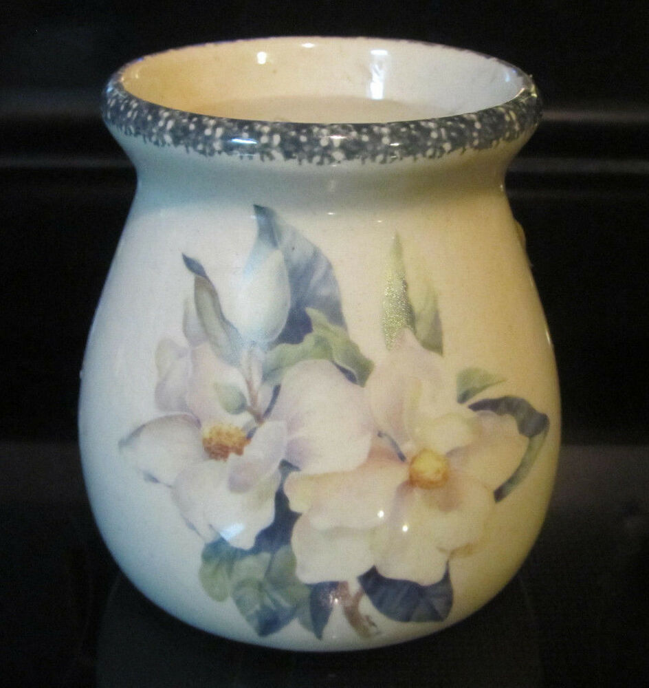 Home And Garden Party Ltd Magnolia Pattern Candle Holder