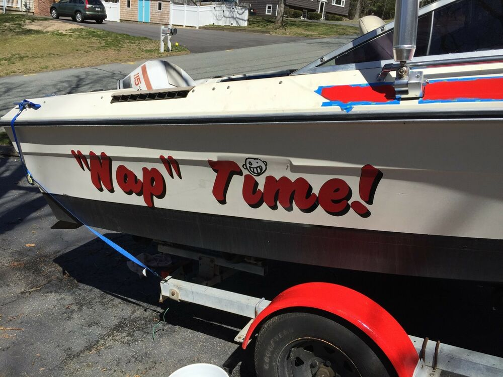 custom boat lettering custom speed pontoon fishing boat name vinyl lettering 6 21270