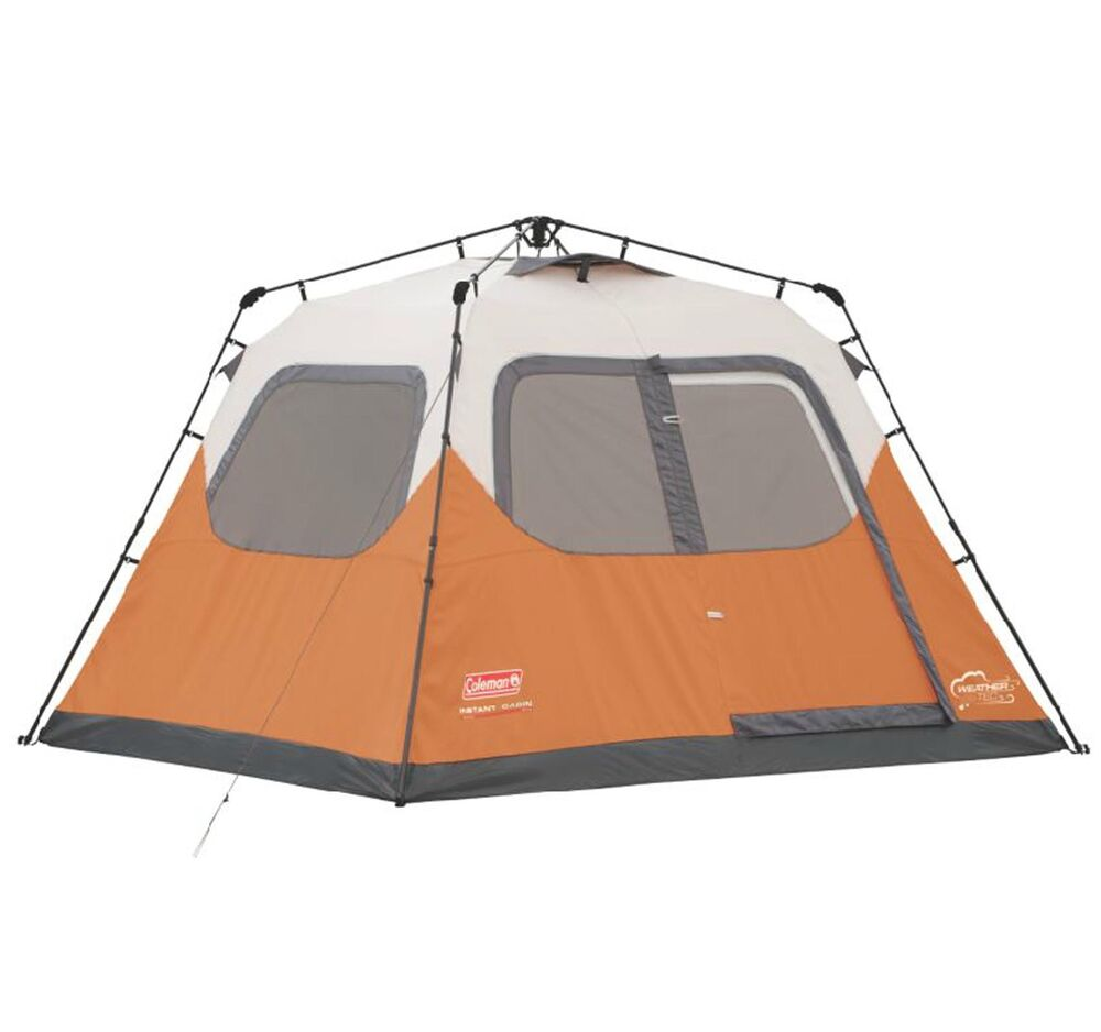 Coleman 6 Person Instant Tent : Coleman outdoor camping person family waterproof instant