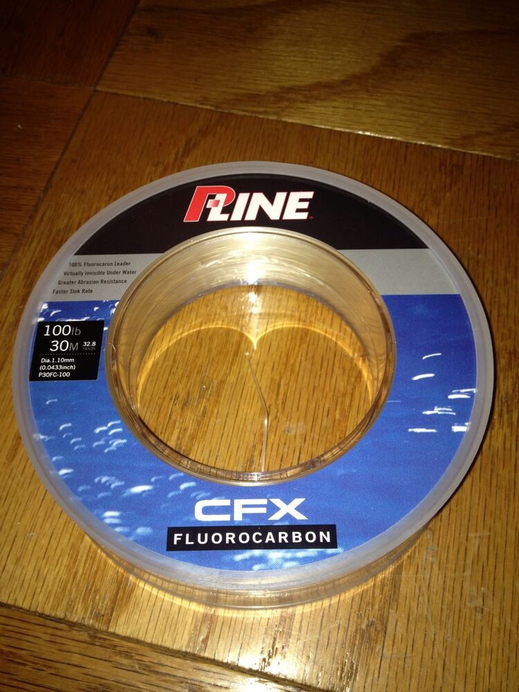 New p line 100lb 30m 100 fluorocarbon cfx leader striper for Pline fishing line