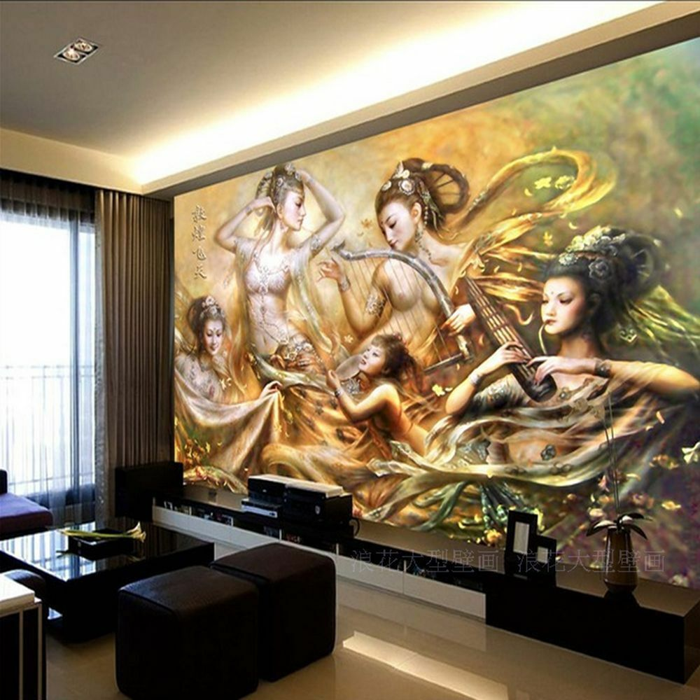 3d Wallpaper For Bedroom Of 3d Wallpaper Bedroom Mural Modern Beautiful Girl Tv