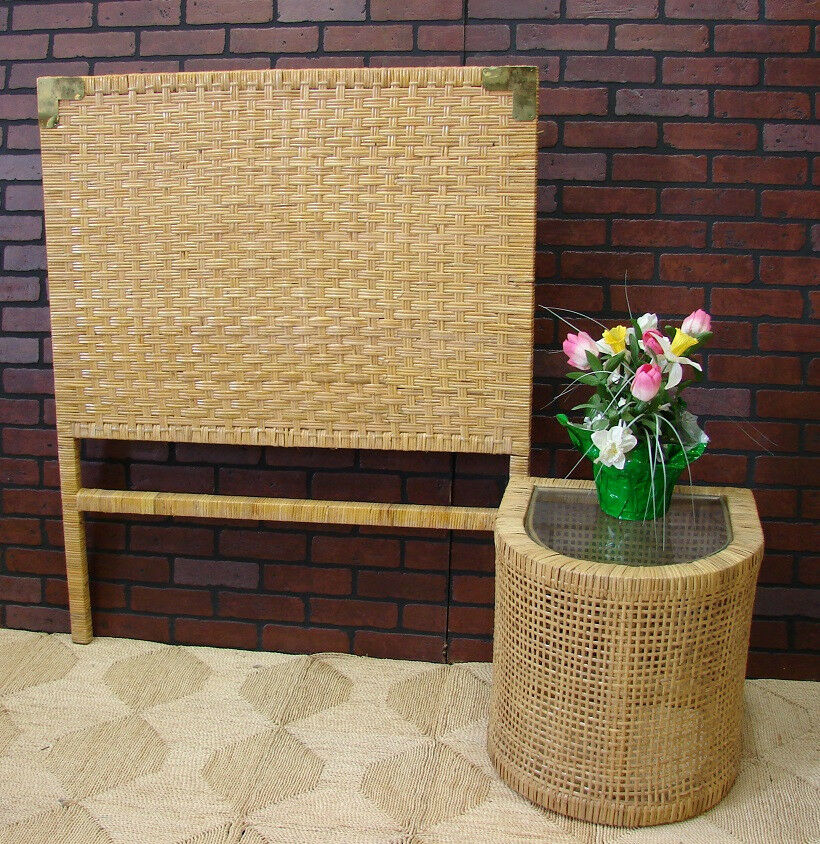 Wicker Parsons Queen Headboard Natural Finish Hqp03l Ebay