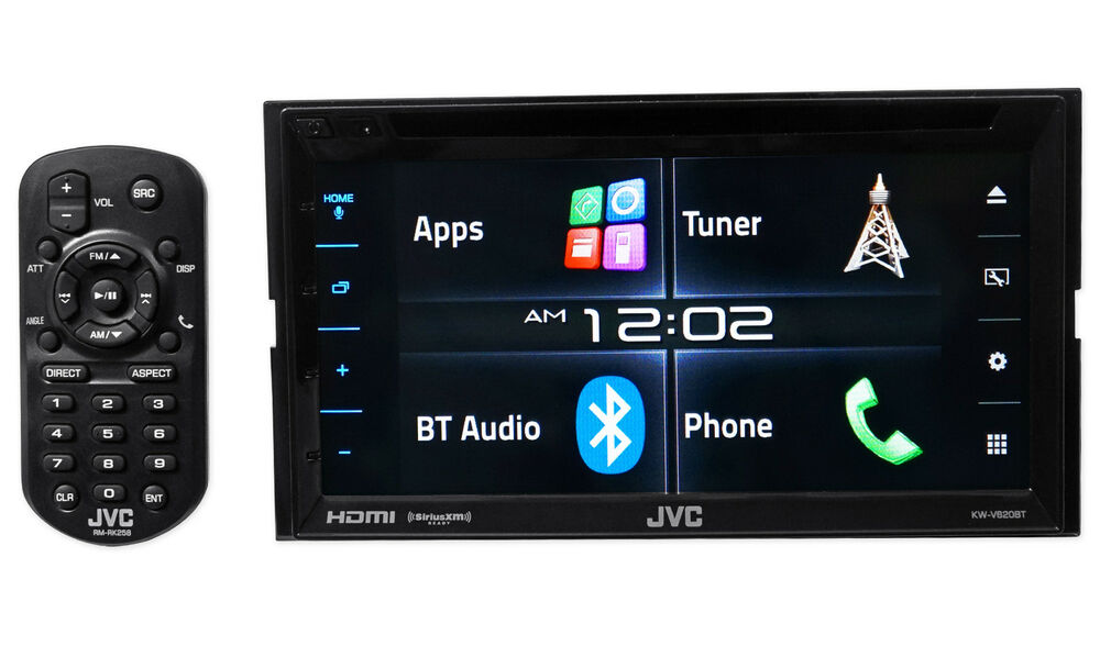 jvc kw v620bt 6 2 2 din in dash car stereo receiver dvd player w bluetooth hdmi ebay. Black Bedroom Furniture Sets. Home Design Ideas
