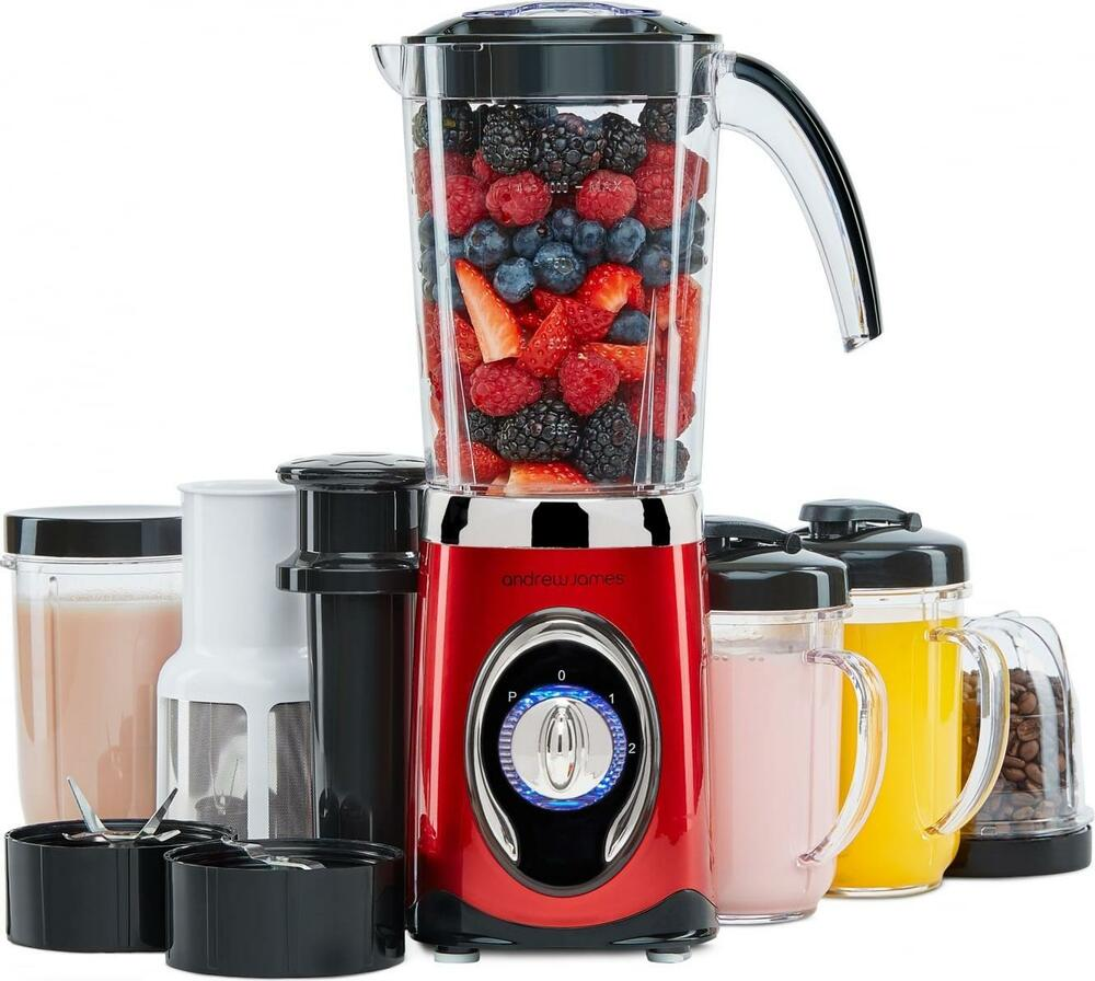 andrew james 4 in 1 smoothie maker blender grinder juicer flip lid drinking ebay. Black Bedroom Furniture Sets. Home Design Ideas