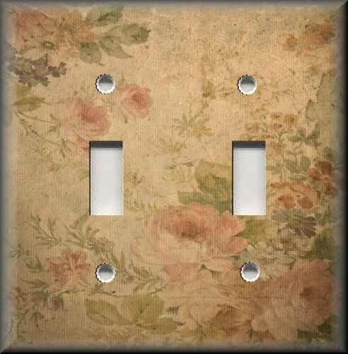 Floral home decor light switch plate cover vintage for Decor light switch