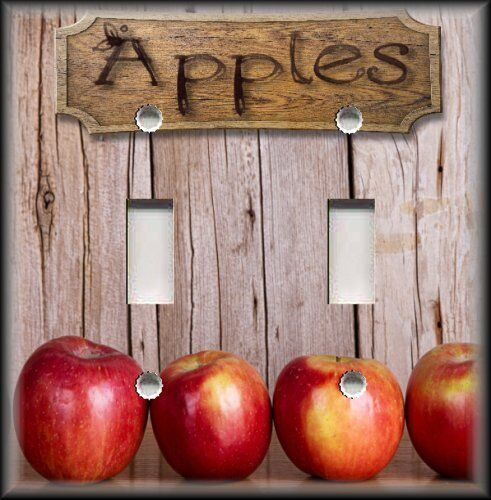 Country Kitchen Apples Light Switch Plate Cover Kitchen