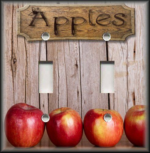 Country kitchen apples light switch plate cover kitchen for Apple kitchen decoration set