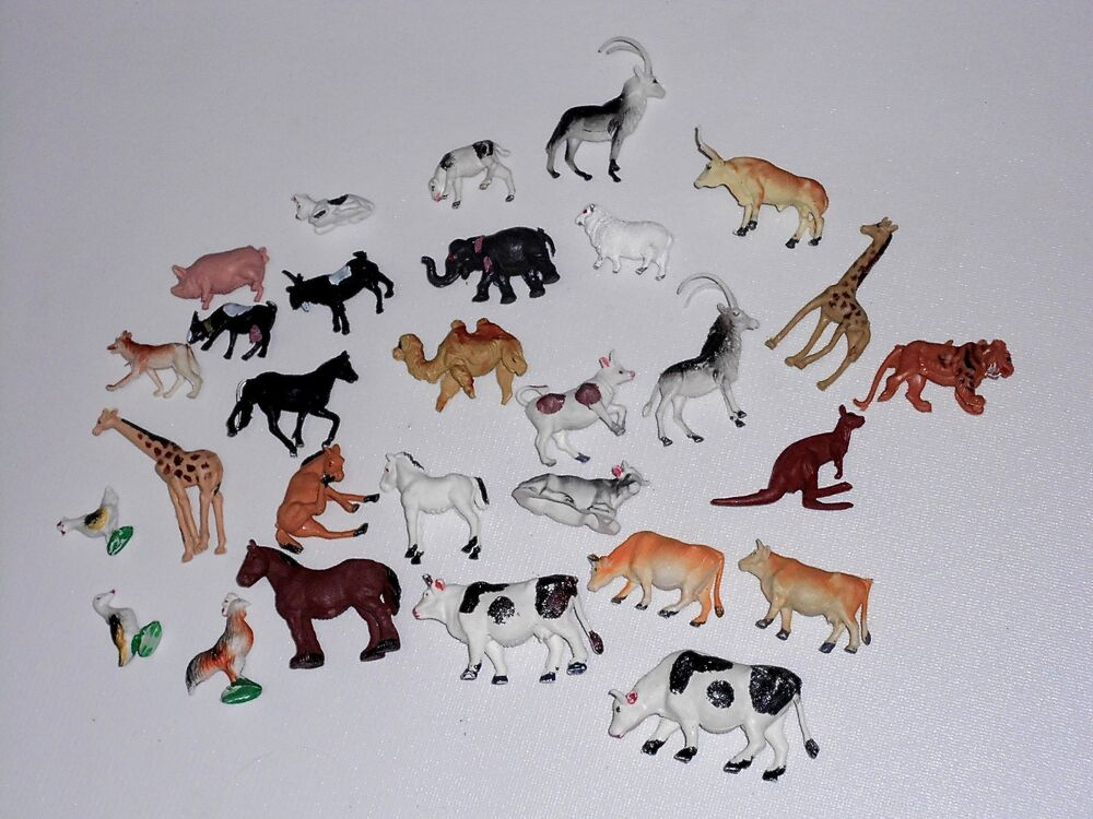 29 plastic animals vintage hong kong farm jungle plastic for Classic jungle house for small animals
