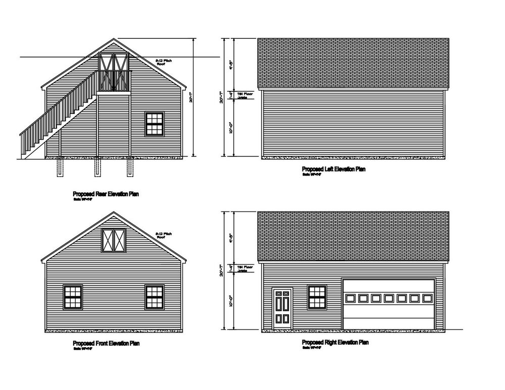 24 39 X32 39 Gable Roof Garage Plan 32x24 Gable Barn Garage