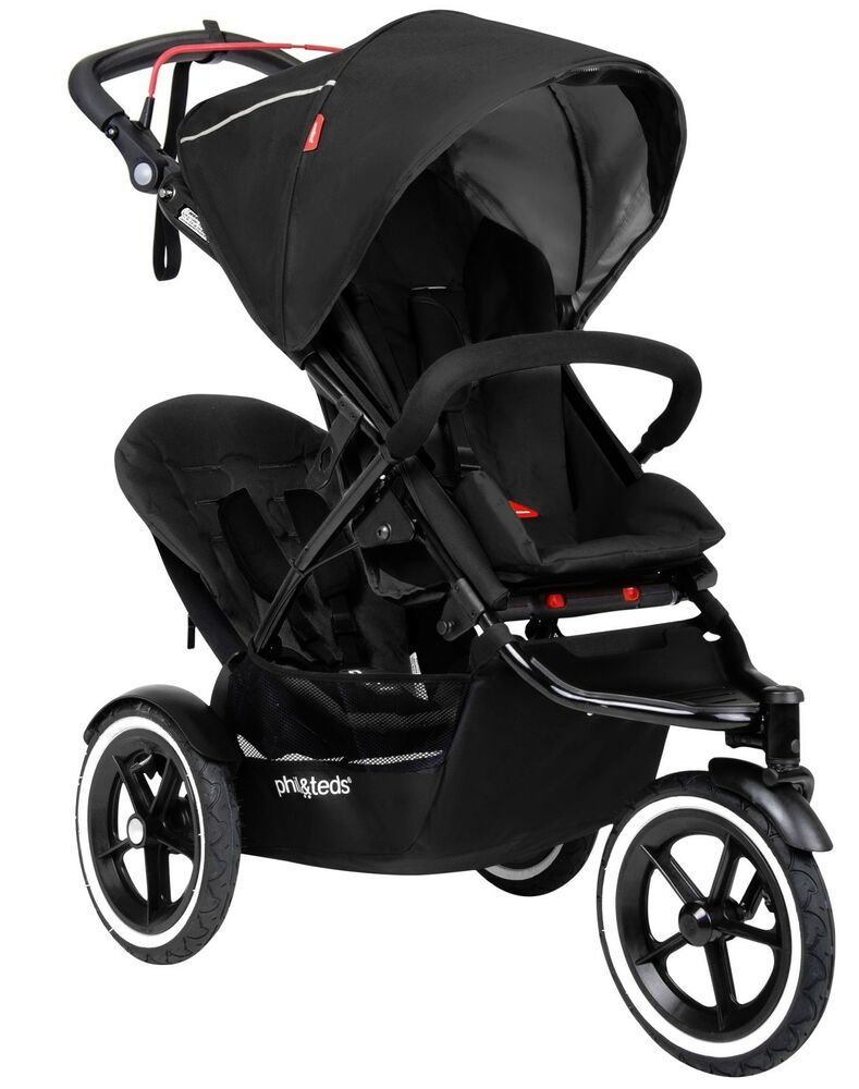 Phil Amp Teds Sport Inline Twin Baby Double Stroller With