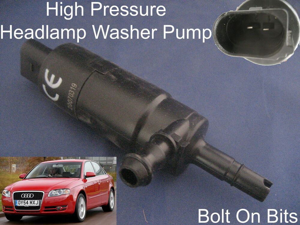 headlamp headlight washer spray cleaning pump audi a4 s4 rs4 2000 to rh ebay com Black 2008 Audi RS4 2008 Audi RS4 Specs