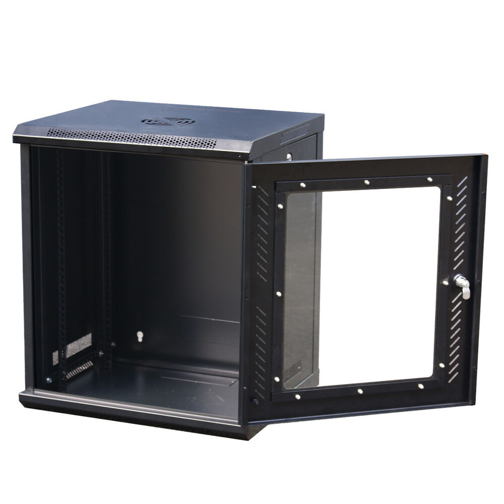 Rack Mount Enclosures : U it wallmount cabinet enclosure quot server network rack
