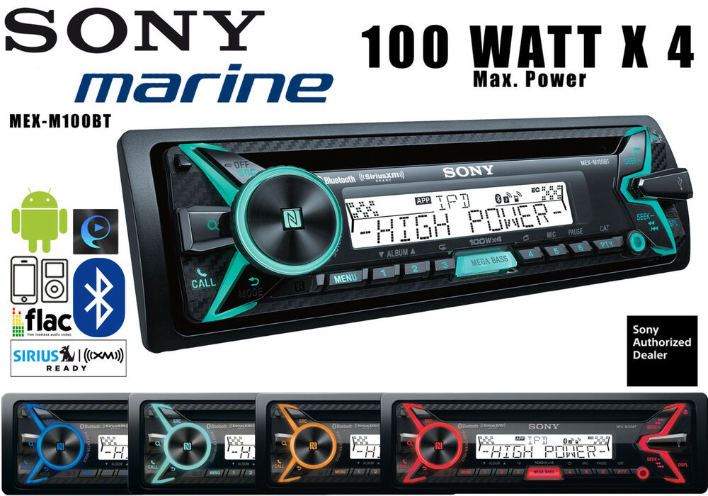 sony mexm100bt marine radio bluetooth cd player songpal. Black Bedroom Furniture Sets. Home Design Ideas