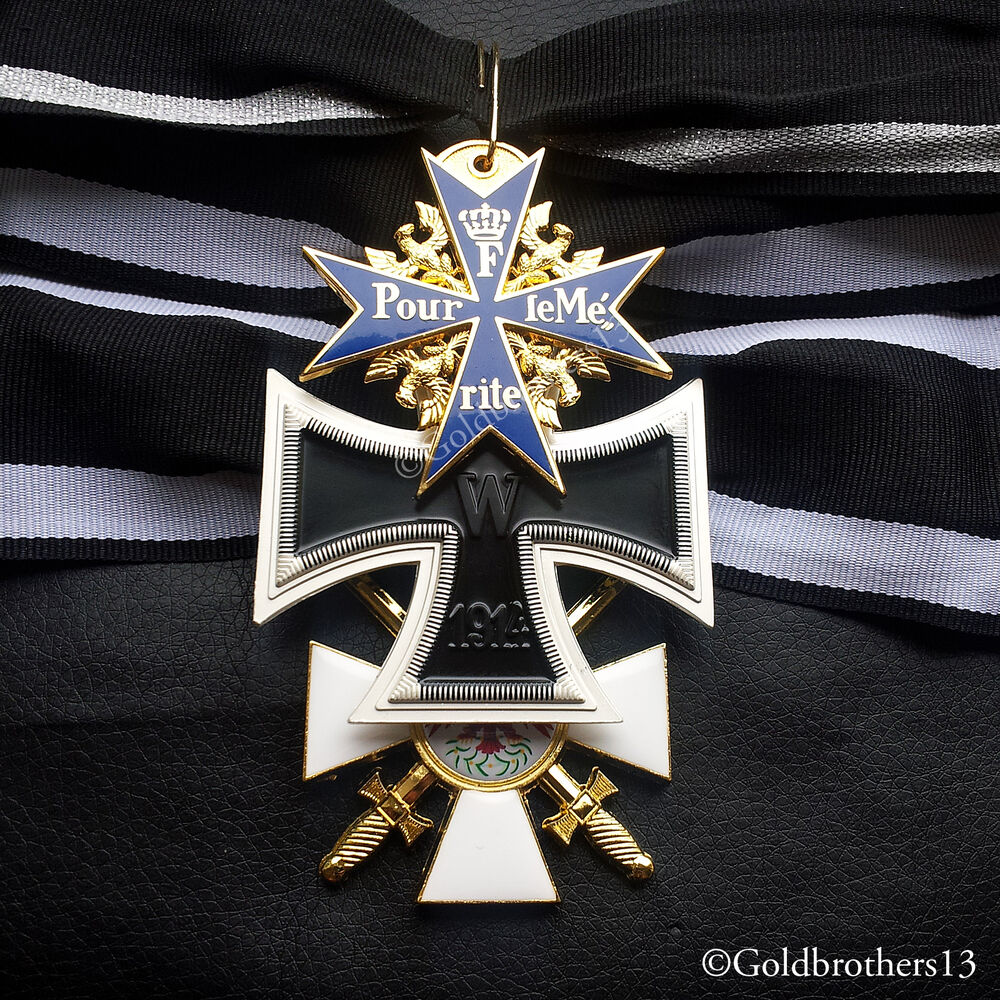 pour le merite grand cross of the iron cross red eagle military medals repro ebay. Black Bedroom Furniture Sets. Home Design Ideas