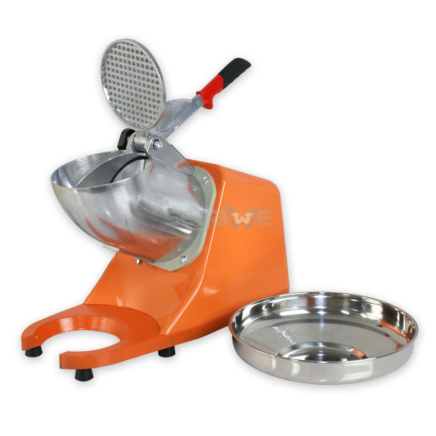 Stainless Steel Snow Cone Machine : Electric ice shaver crusher dual stainless steel blade