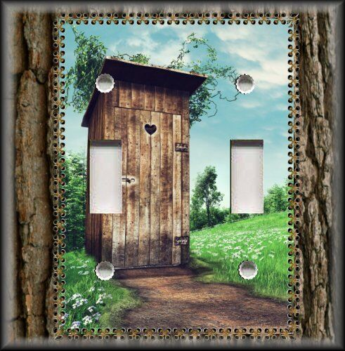 Light switch plate cover country bathroom wood outhouse bathroom decor 0 ebay