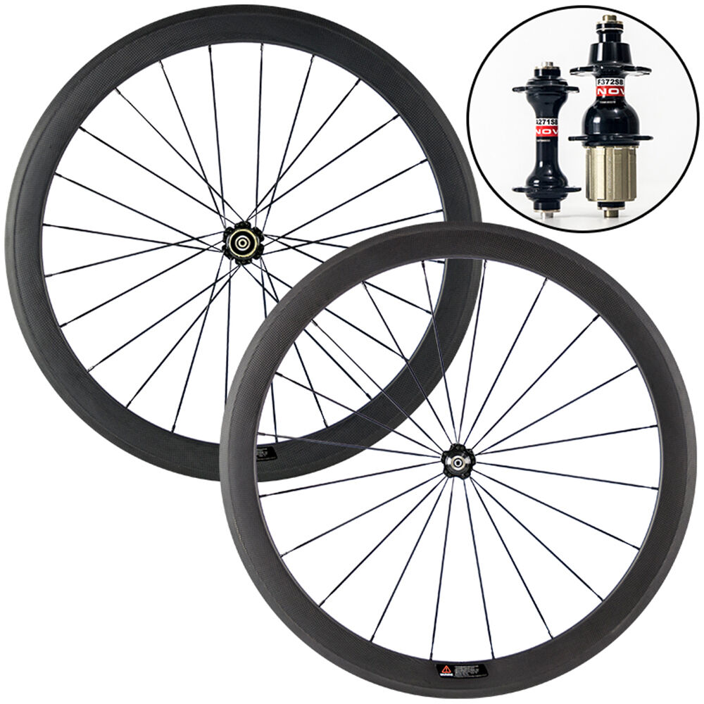 700c 50mm clincher carbon wheelset road bike bicycle for Bicycle rims