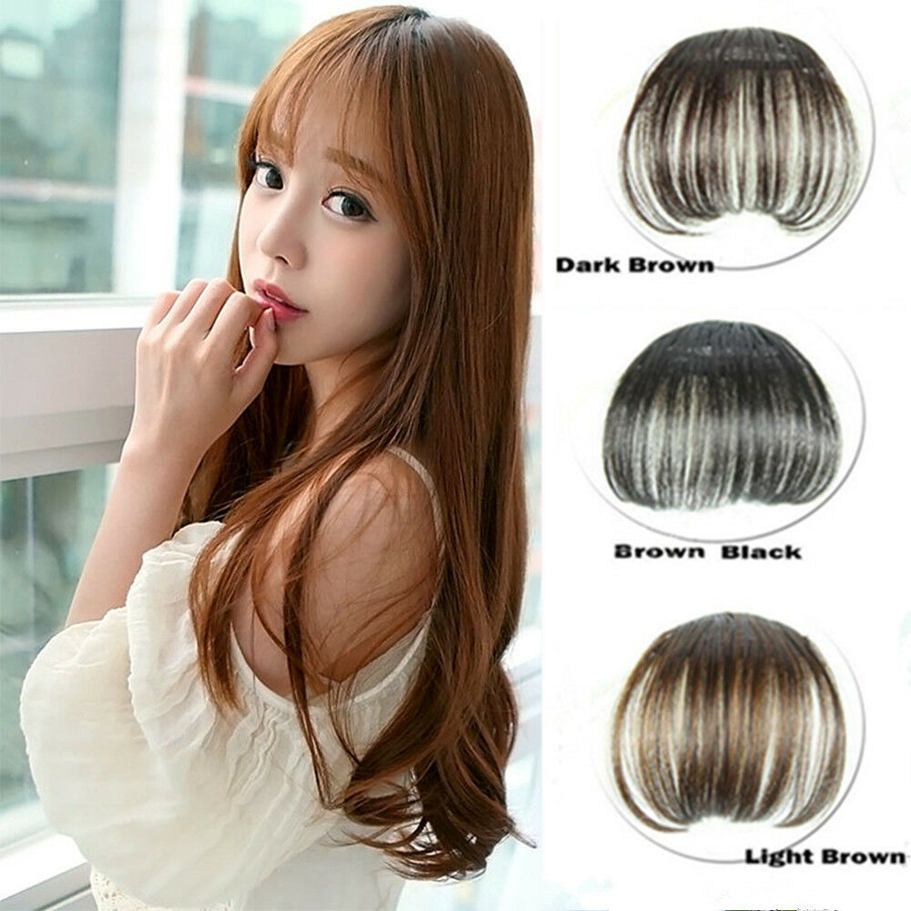 1x Korean Thin Hair Extension False Hair Piece Hair Clip