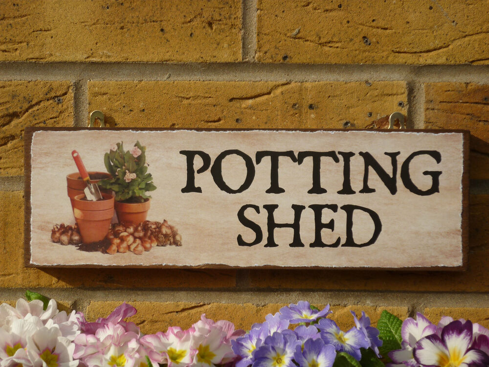 PERSONALISED GARDEN SHED SIGN POTTING SHED GARDENERS SIGN