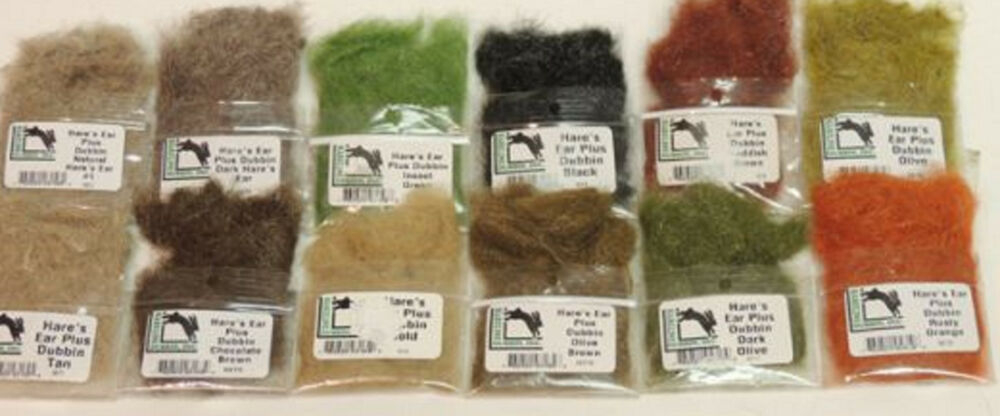Details About Hareline Hare S Ear Plus Dub 12 Color Pack Complete Set Fly Tying Dubbing