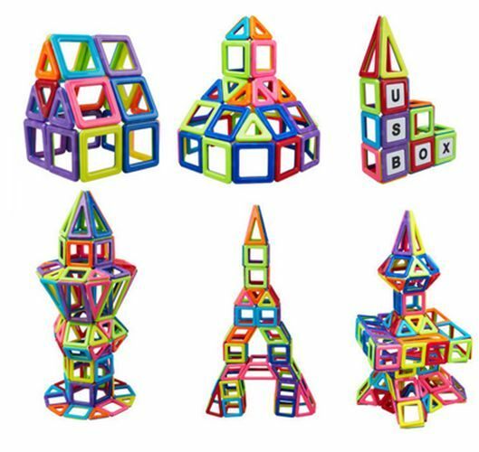 Magnetic Building Toys : New magnetic construction building educational blocks kid