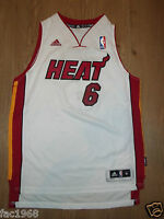 Kids Youth NBA Basketball Jersey Top Vest Miami Heat 6 James S M L Adidas New