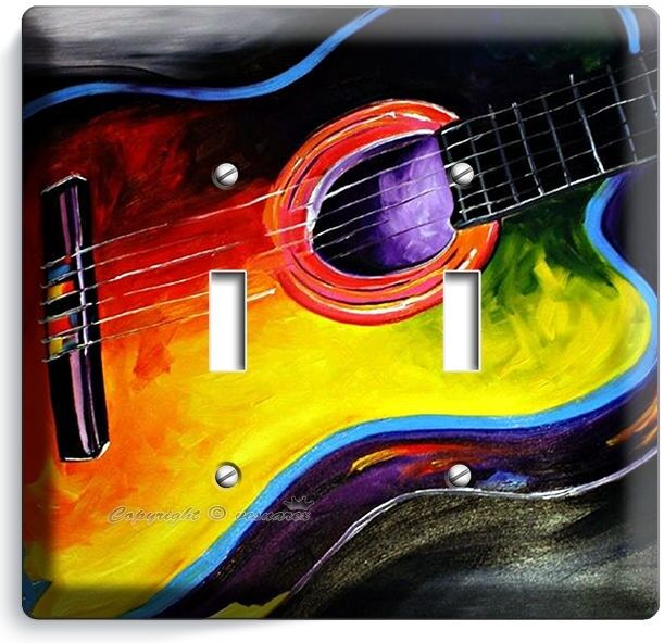 Modern Book Cover Guitar : Acoustic guitar abstract modern art music double light