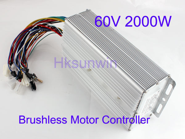 60v 2000w Electric Bicycle Brushless Motor Controller For