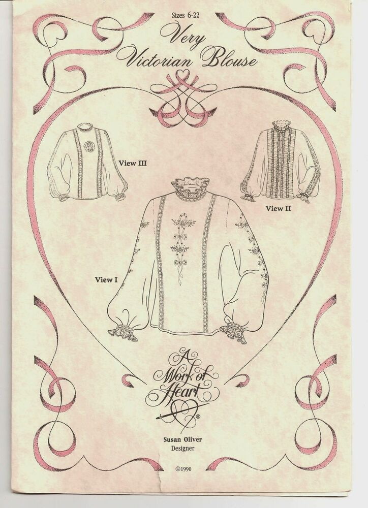 Susan Oliver Work of Heart VERY VICTORIAN BLOUSE Heirloom Sewing ...