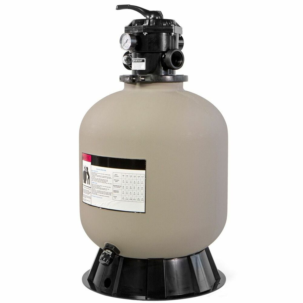 Quartz Sand Filter : Quot swimming pool sand filter w ways valve inground