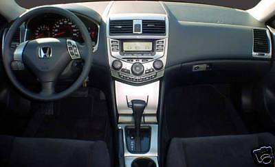 2003 04 05 06 07 Honda Accord Coupe Sedan Interior Silver Aluminum Dash Trim Kit Ebay