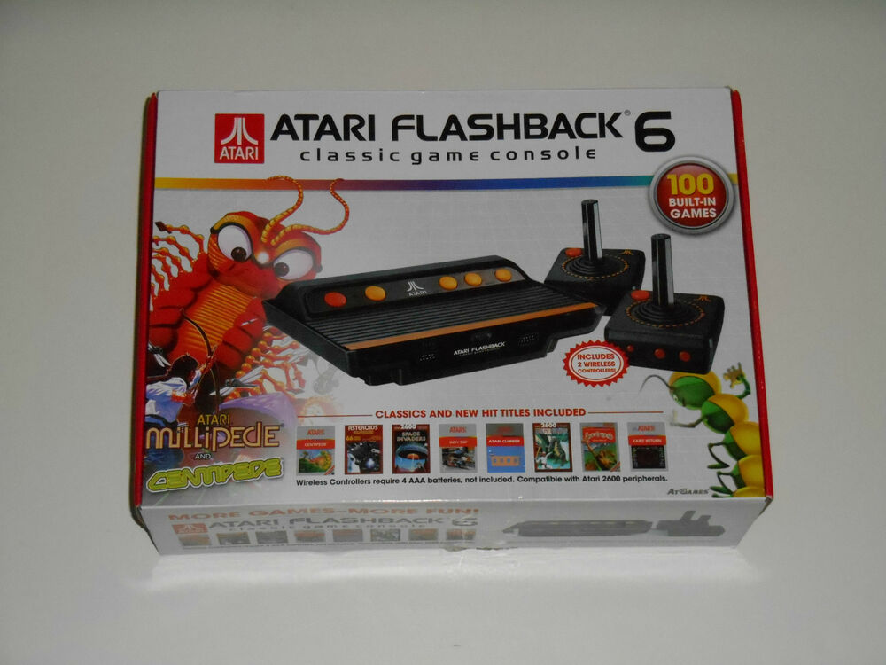 Atari flashback 6 console vintage video game system 100 - Atari flashback classic game console game list ...
