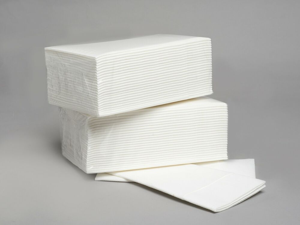 50 Luxury White Airlaid Paper Hand Towels Napkins