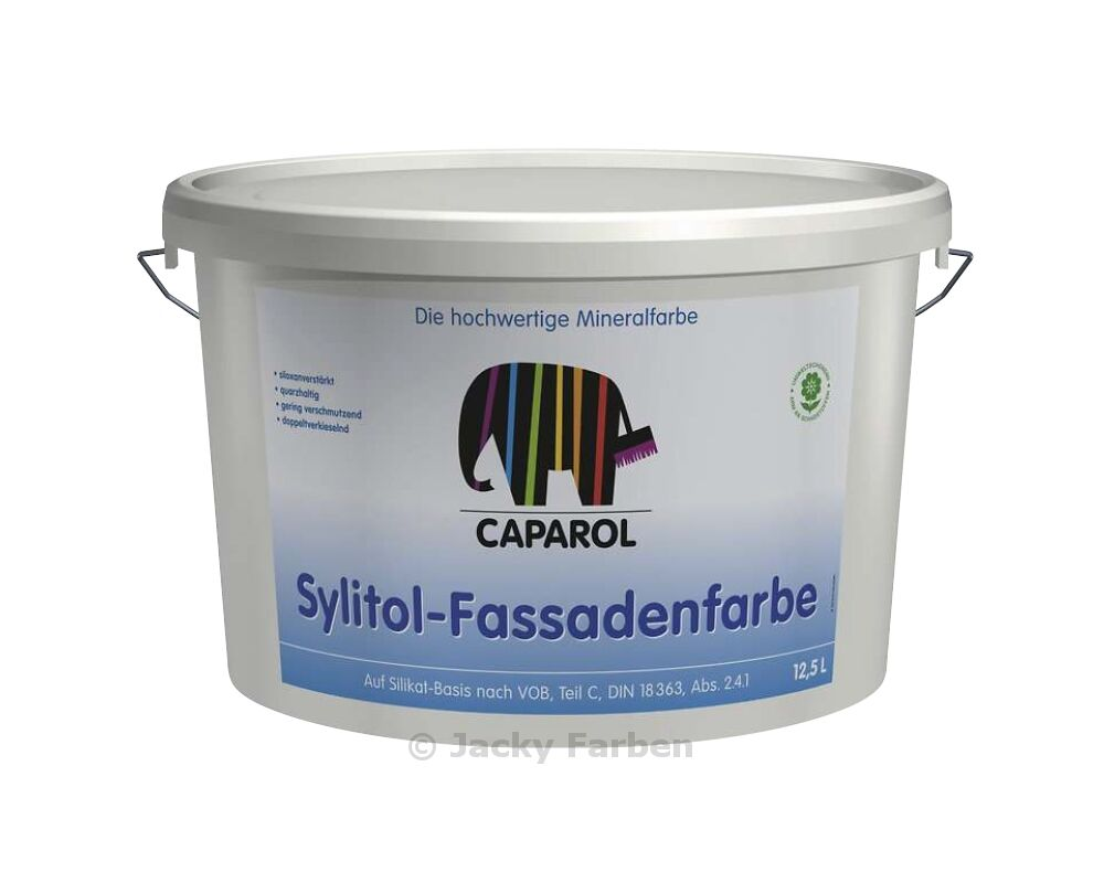 caparol sylitol 12 5 ltr fassadenfarbe au enfarbe silikatfarbe silikat farbe ebay. Black Bedroom Furniture Sets. Home Design Ideas