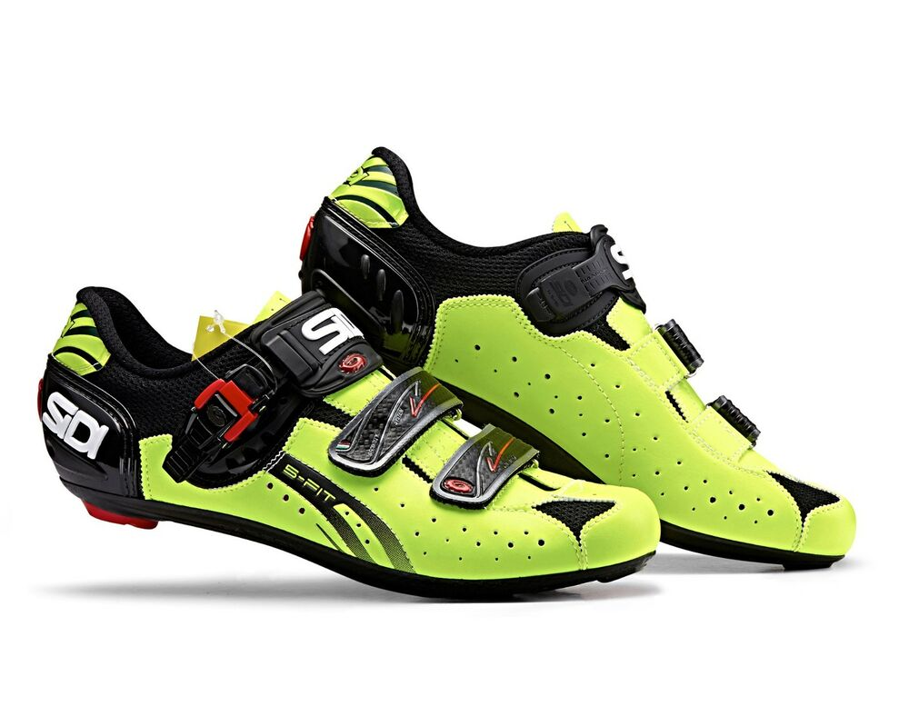 Sidi Level Road Cycling Shoes Fluo Yellow Black