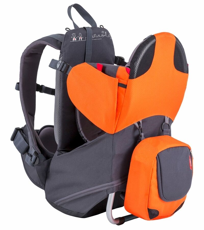 Phil Amp Teds Parade Backpack Baby Carrier Orange Grey