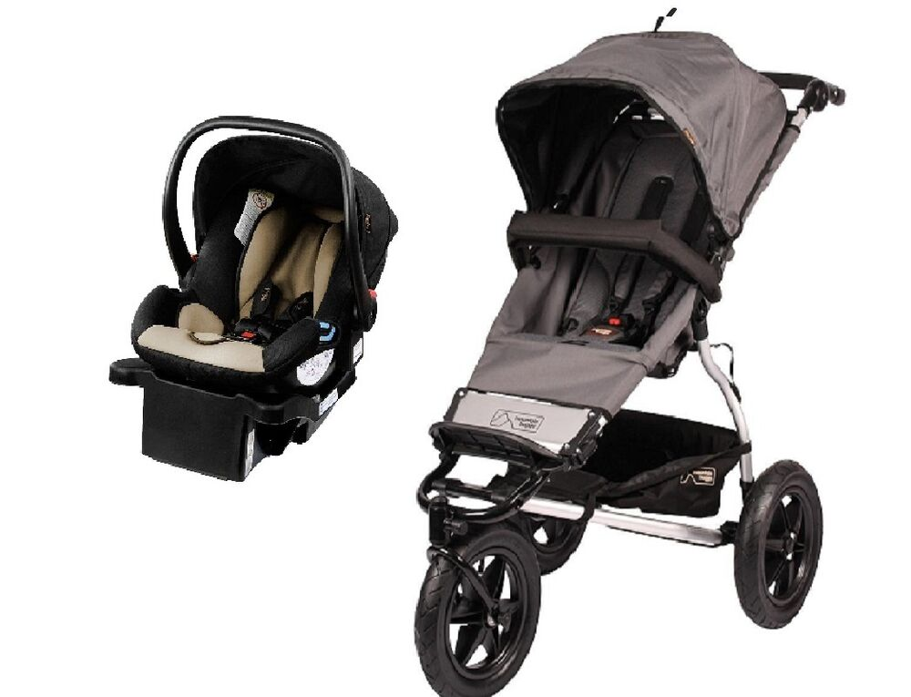 mountain buggy urban jungle travel system in flint with protect car seat base 9420015722857. Black Bedroom Furniture Sets. Home Design Ideas