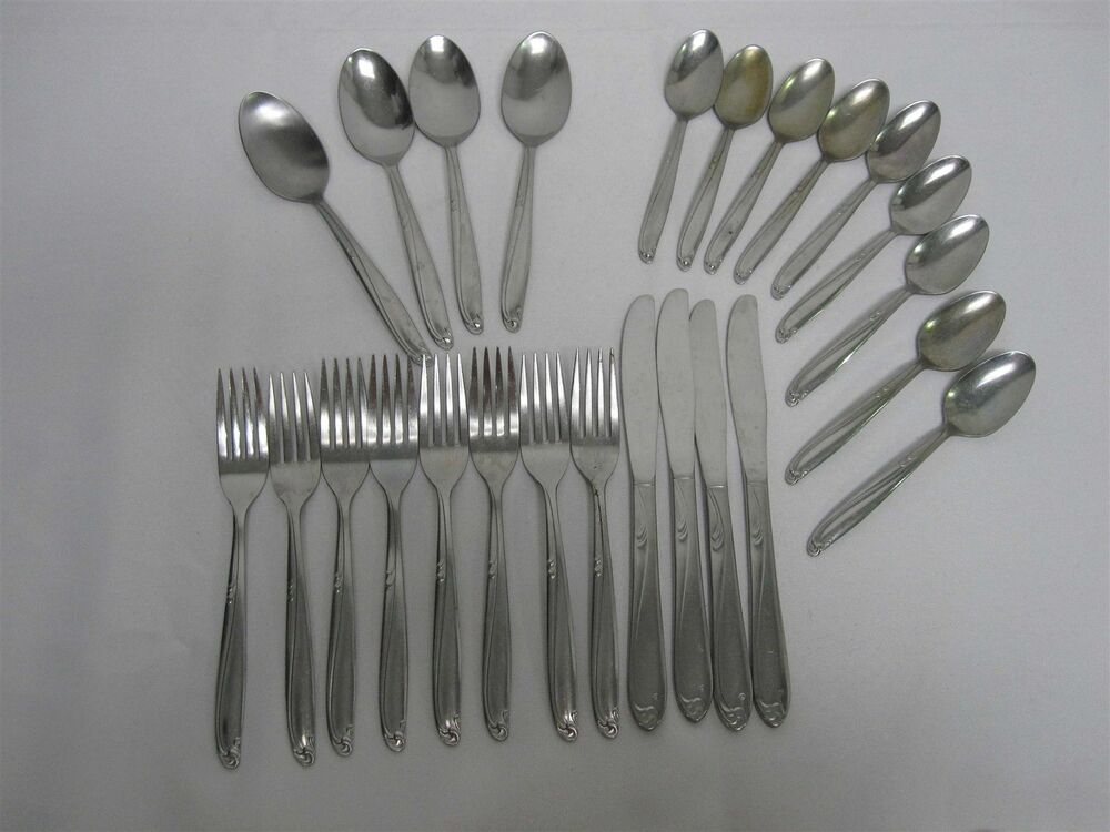 25 Pcs Oneida Quot Paramount Quot Stainless Flatware Ebay