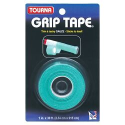 Unique Tourna Tennis Racquet Over Grip Gauze Tape-Green-1in by 30 Ft-Badminton