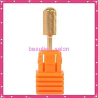 """Pro Electric Gold Carbide Nail Art Drill File Broach Bit Replacement #F 3/32"""""""