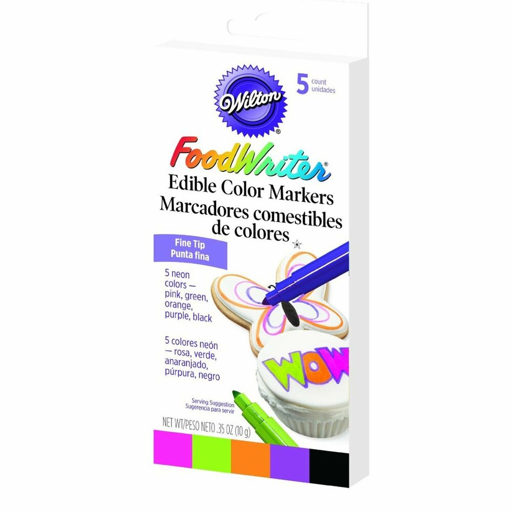 Wilton Fine Tip Food Writer Edible Color Markers Cake ...