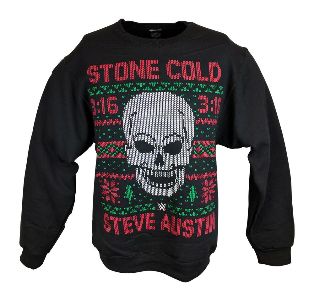 Stone Cold Steve Austin 3:16 WWE Ugly Christmas Mens Sweater ...