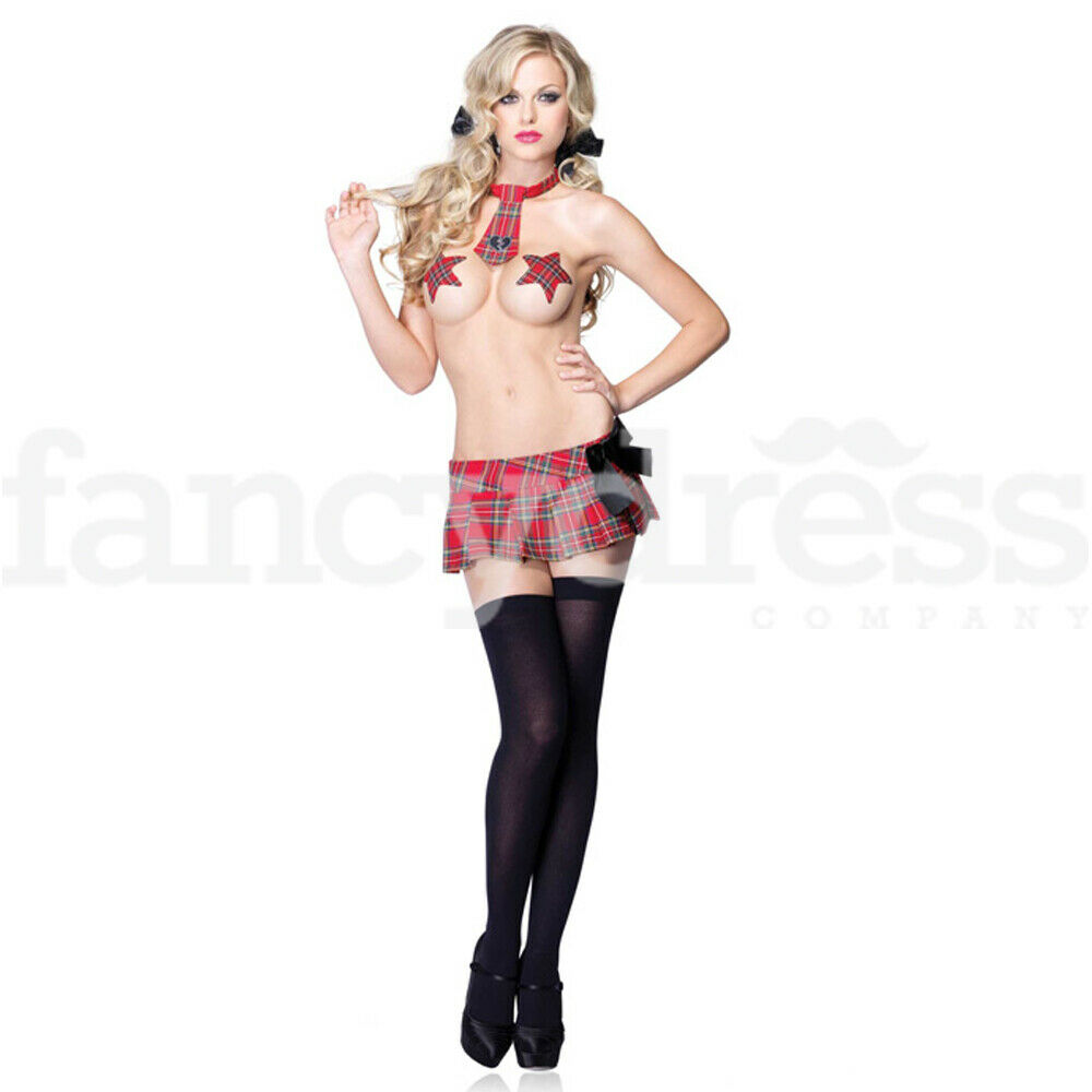 Ladies Sexy 3 Piece Naughty Schoolgirl Lingerie Fancy -2783
