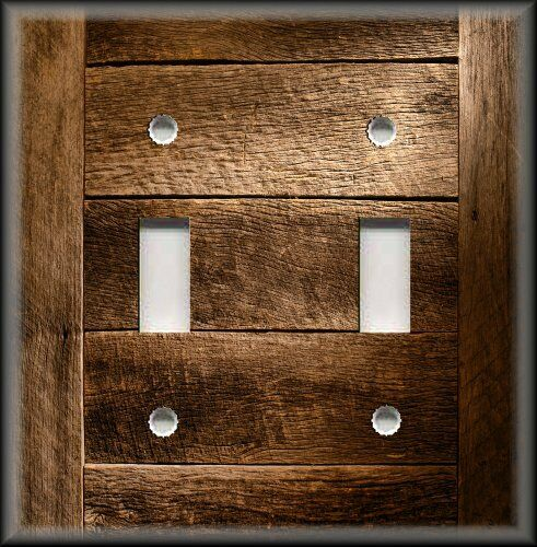 Barn Light Covers: Switch Plate Cover Rustic Barn Wood Planks Design Country