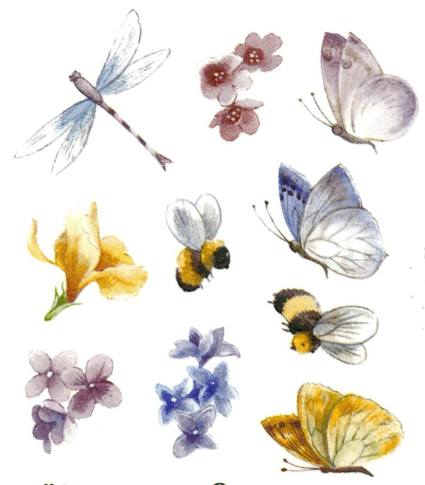 Butterfly Dragonfly Bee Flower Select A Size Ceramic