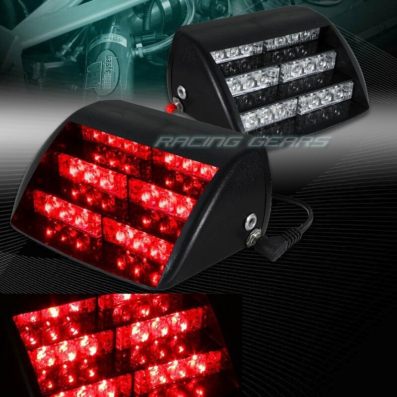 18 Led Red Car Truck Emergency Warning Dashboard Flash Strobe Light Universal 9 Ebay