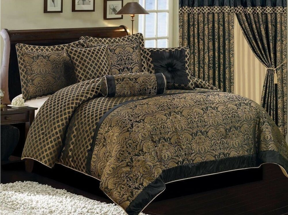 Chezmoi Collection Lisbon 7pcs Jacquard Floral Comforter