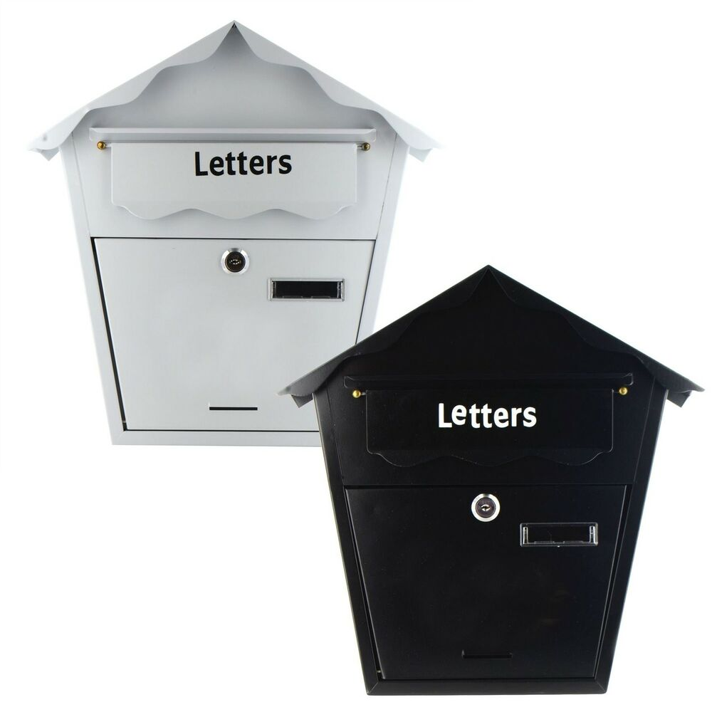White Wall Mounted Mailbox Letter Mailbox Stainless Steel