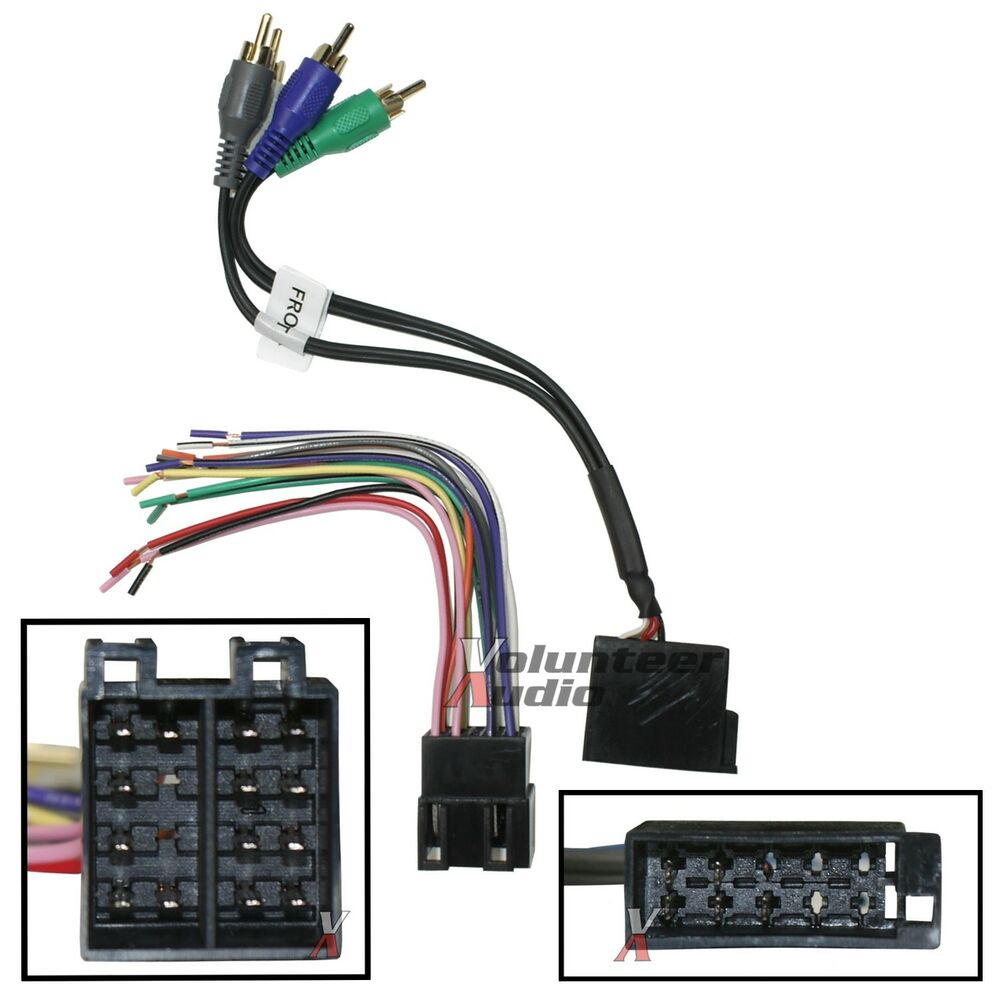 Wiring Harness To Car Stereo : Car stereo cd player wiring harness wire aftermarket radio