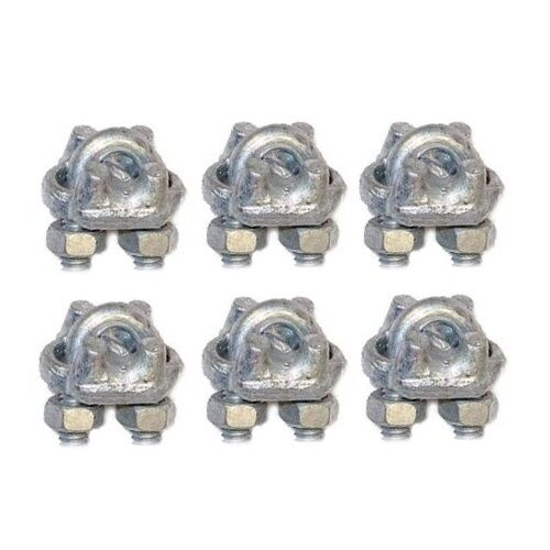 Mast pole guy wire clamps ccf cable rope